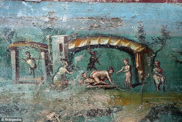 Картини на сексуална активност, музикални забавления и консумация на алкохол са често представени в картини в Помпей.