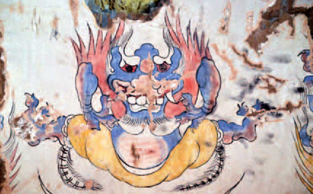Мистериозното синьо чудовище, което дълбоко озадачава археолозите.