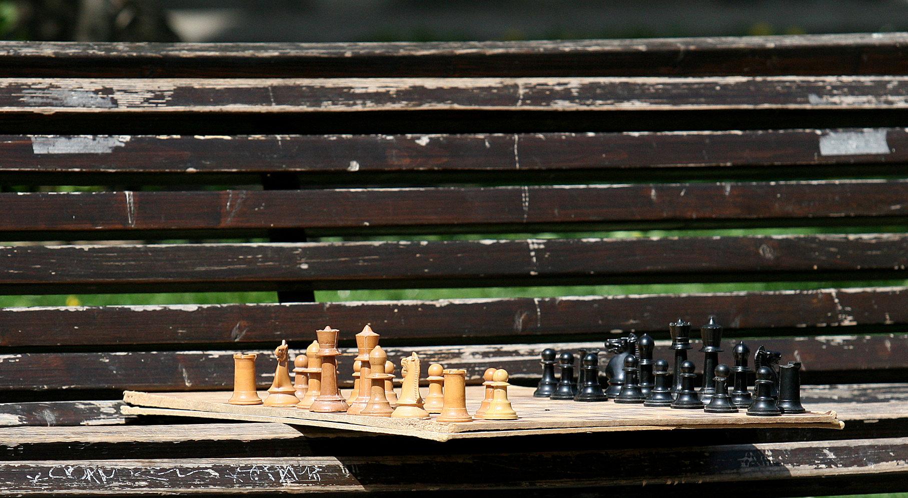 Градската градина е любимото място за срещи на любителите на шаха. Техните колоритни двубои са забавни и ще ви усмихнат със своето добро настроение