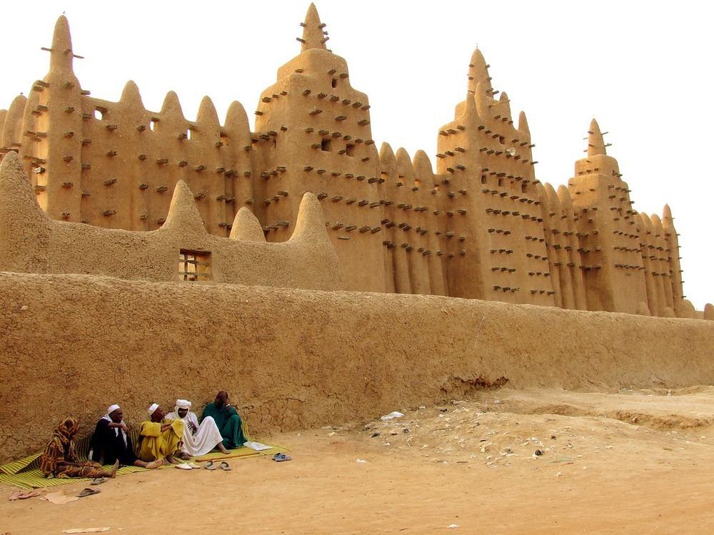Голямата джамия в град Джене, Мали