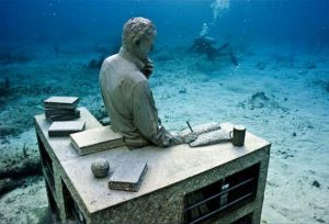 Създаден от английския скулптор Джейсън де Кайрес Тейлър