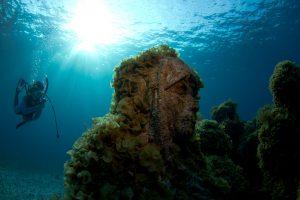 Резултатите в подводния музей в Канкун.